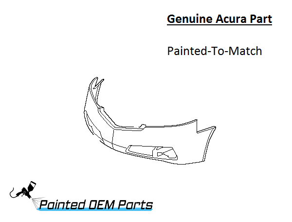 Painted Acura TL Genuine OEM Front Bumper Cover - Acura part