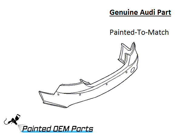 Painted Audi A Genuine OEM Rear Bumper Cover - Audi oem parts