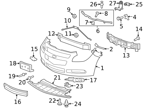 2010 Chevy Malibu Parts Diagram
