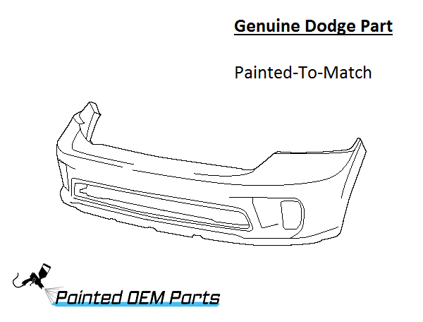 painted dodge ram 1500 genuine factory   oem front bumper cover