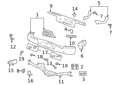 painted ford f-150 genuine factory/ oem rear bumper cover 2005 ford f 150 starter wiring diagram parts
