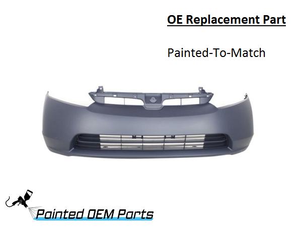 painted   honda civic oe replacement front bumper cover